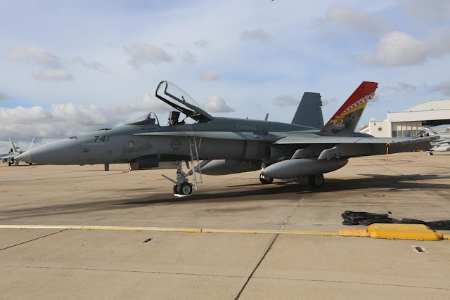 CANADIAN F18s CONDUCTS TRAINING AT TOP GUN AIR BASE