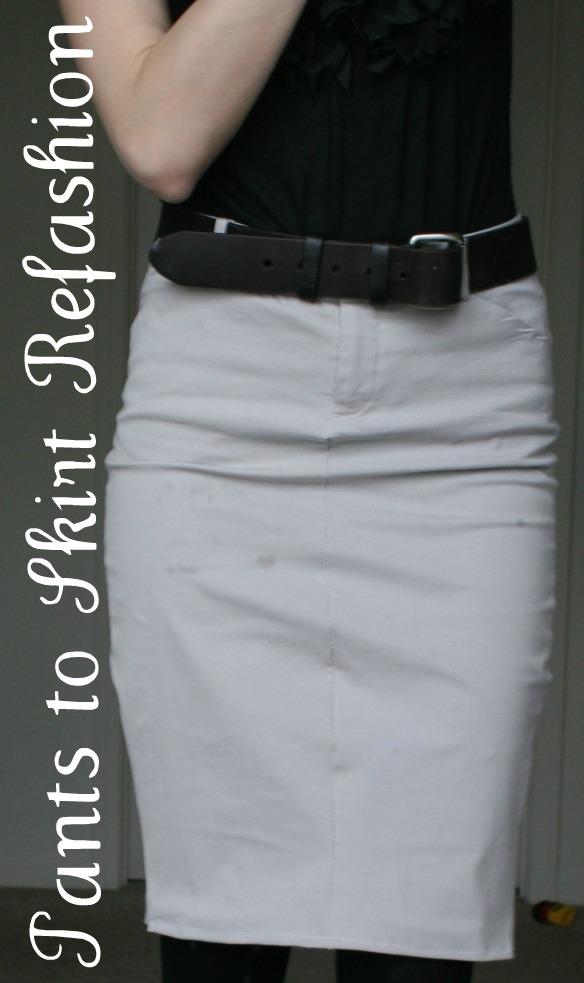 la vie diy pants to pencil skirt refashion