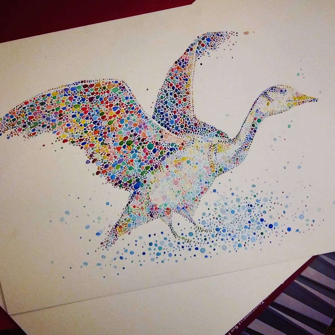10-Goose-Ana-Enshina-anaensh-Dot-and-Circle-Animal-Paintings-Ishihara-Test-www-designstack-co