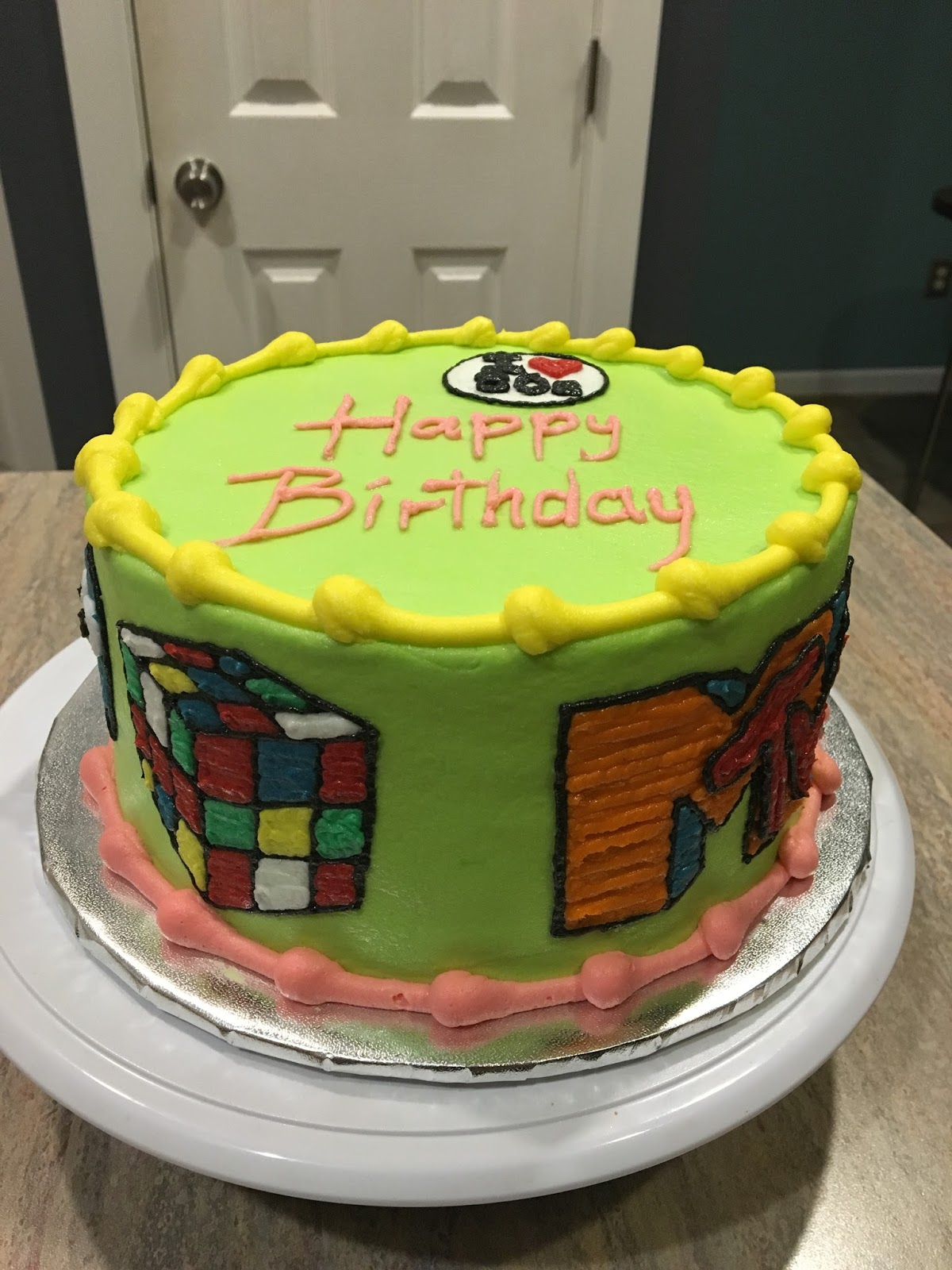 A Counselors Confections 80s Birthday Cake