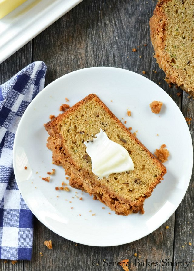 The BEST Zucchini Bread With Brown Sugar Crumb recipe from Serena Bakes Simply From Scratch.