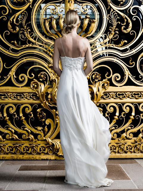 Fanny  Liautard créatrice de mode, robes de mairiée mousseline de soie