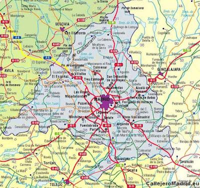 mapa madrid carreteras