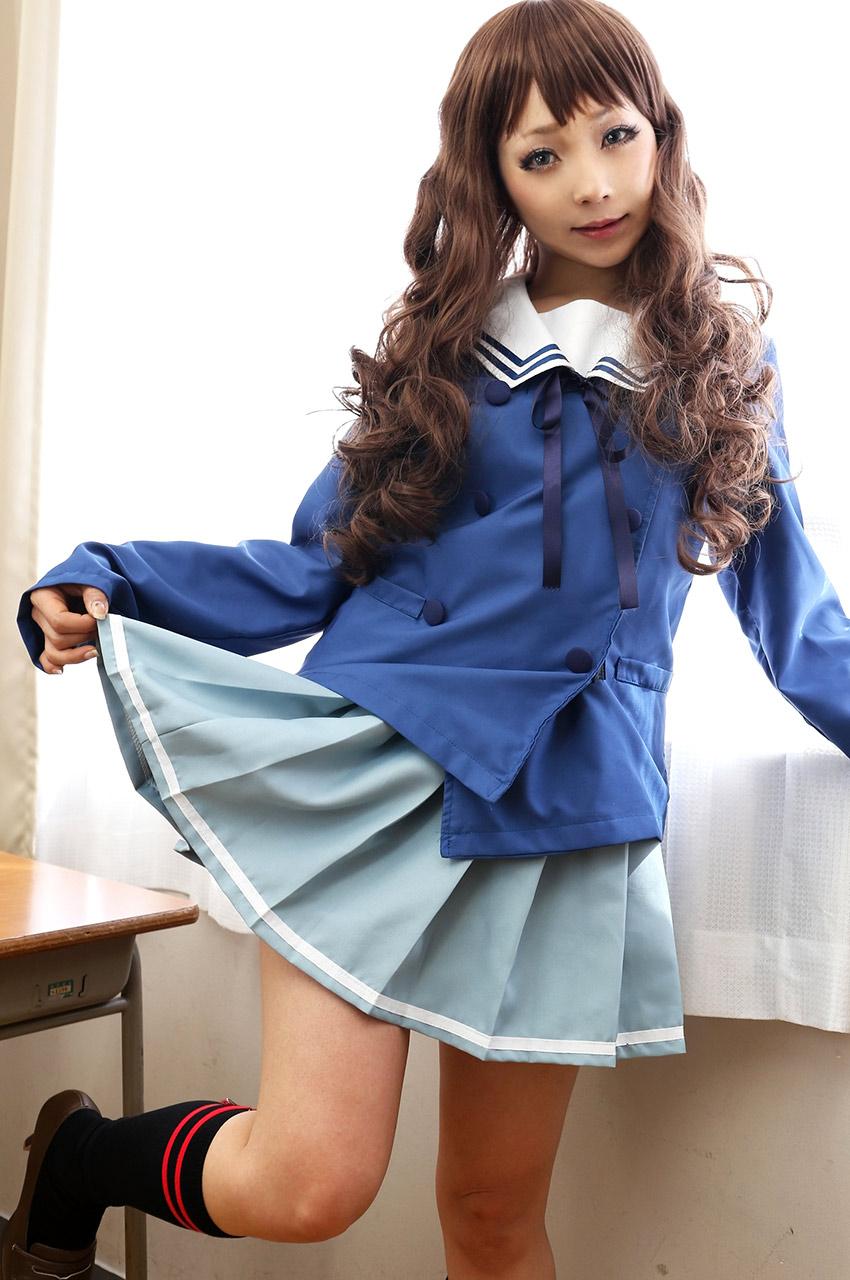 ran higurashi sexy schoolgirl outfit 05