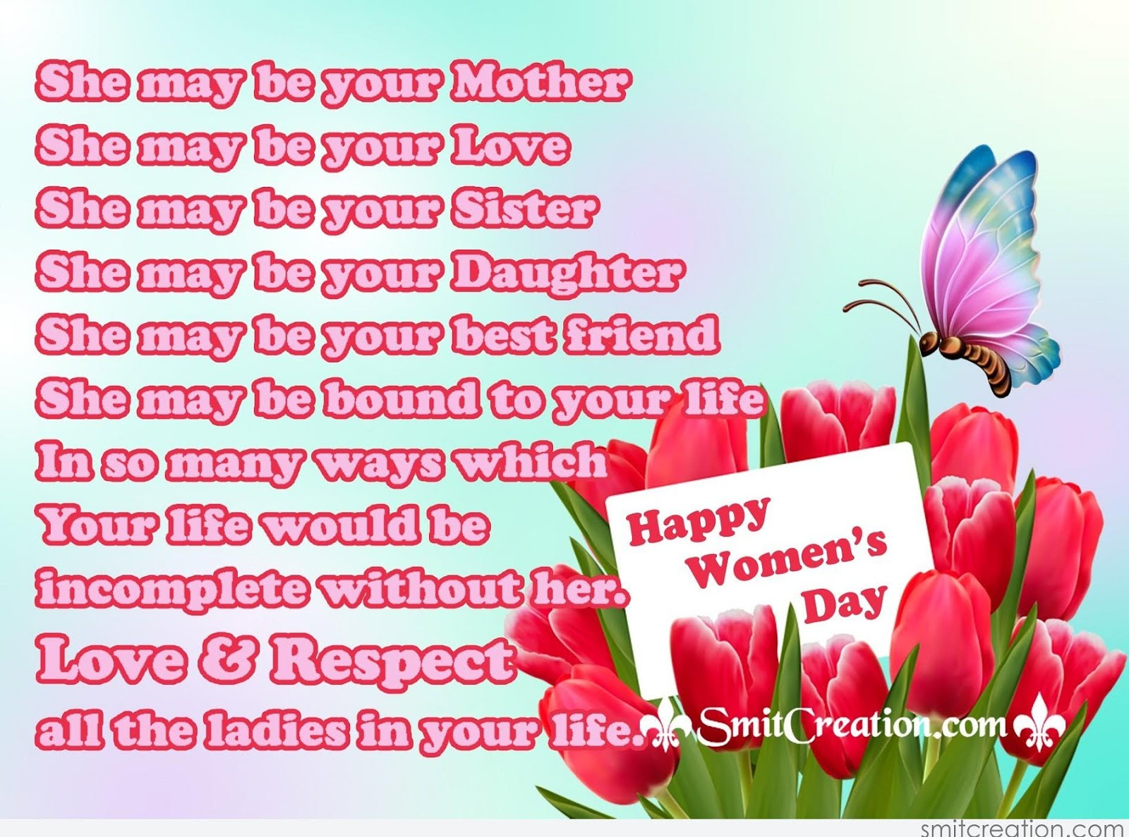 Happy Women's Day Quotes, SMS Messages & Saying Images