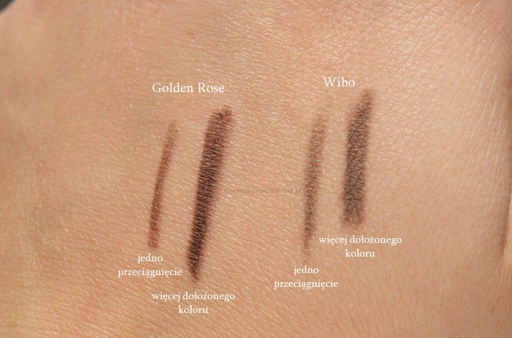 Wibo, Feather Brow Creator vs Golden Rose Precise Browliner - kredka do brwi