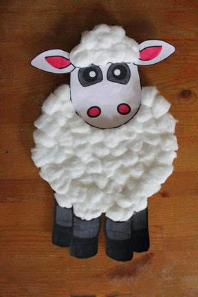 Mommy blog expert free passover kids printables crafts for Cardboard sheep template