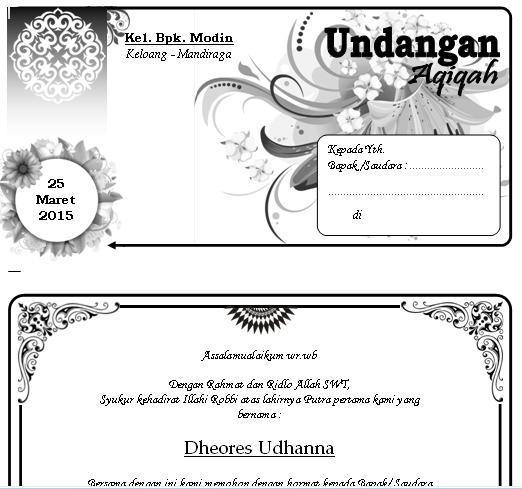 MI HAYATUL ISLAM: Download 155 Undangan Ms. Word Gratis
