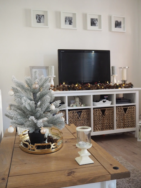 Christmas decor home tour featuring neutral interior design