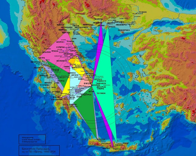 The mystical topographic symmetry of the ancient Greeks