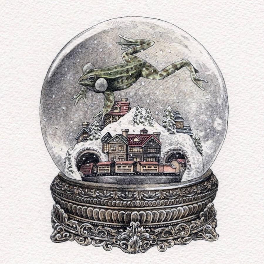 04-Frog-in-snow-globe-Steeven-Salvat-www-designstack-co