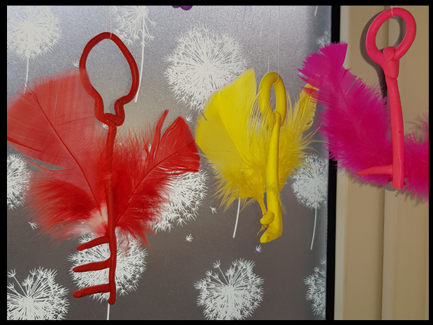 Great kids craft - using oven bake clay to make multi-coloured harry potter inspired flying keys