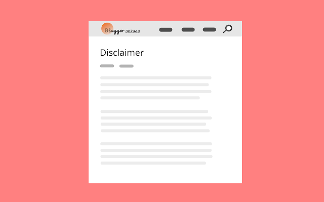 Cara Membuat Halaman Disclaimer dan Privacy Policy di Blog