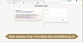 Buka Verval PTK http://vervalptk.data.kemdikbud.go.id