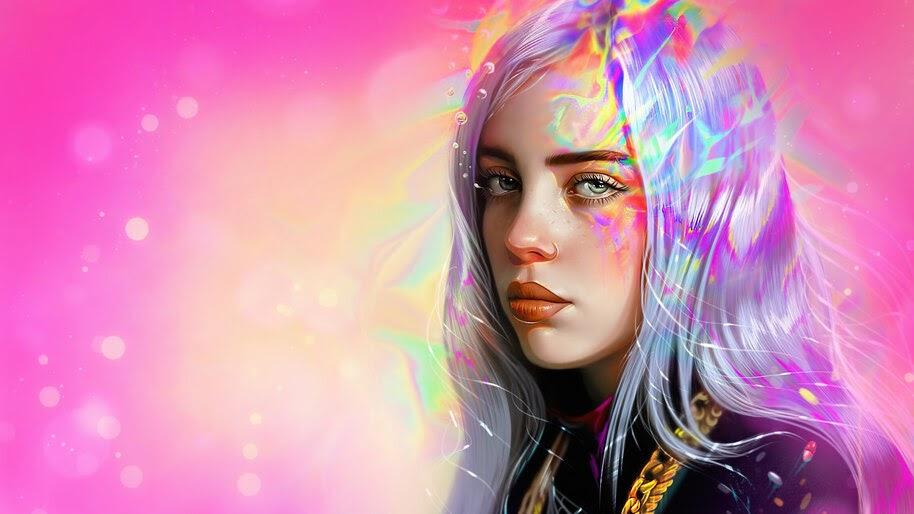 Billie Eilish, Art, 4K, #4.2510