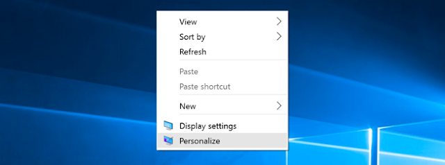 Choose Personalize [ Windows 10 ]