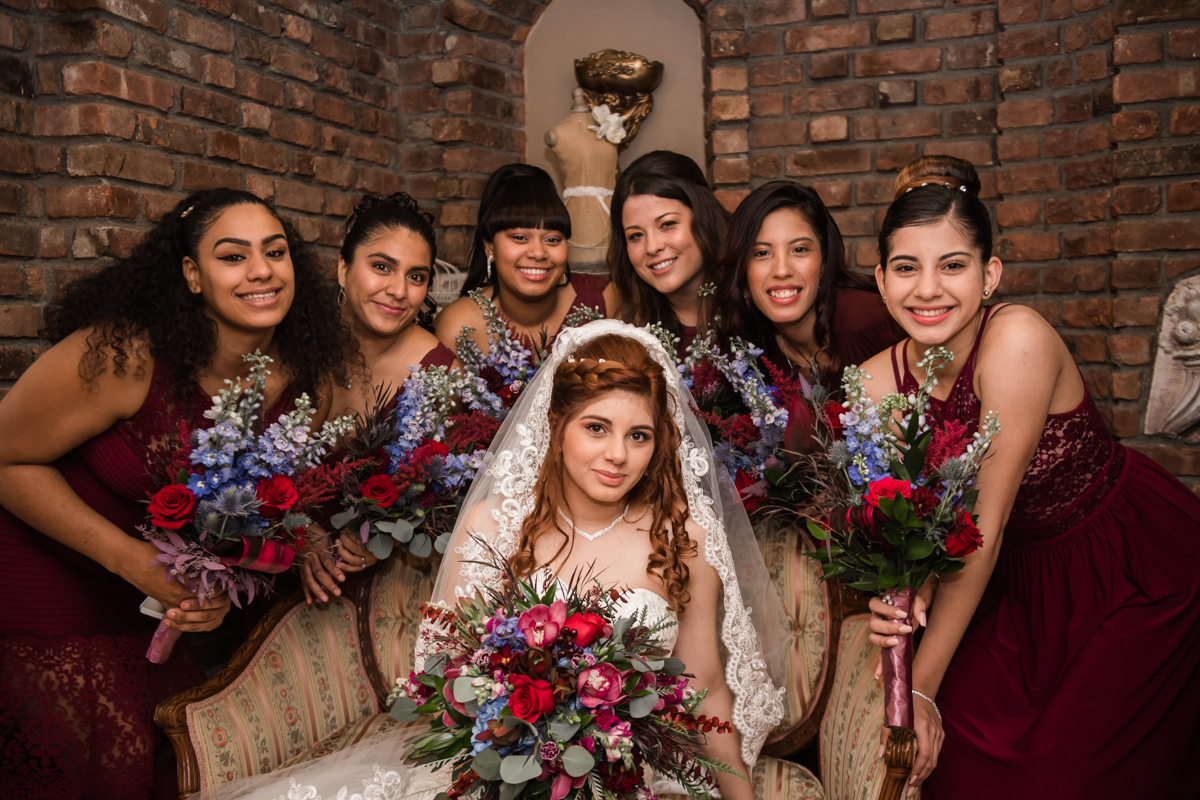 Beautiful Bride with her crew.