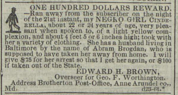Anuncios de esclavos fugitivos