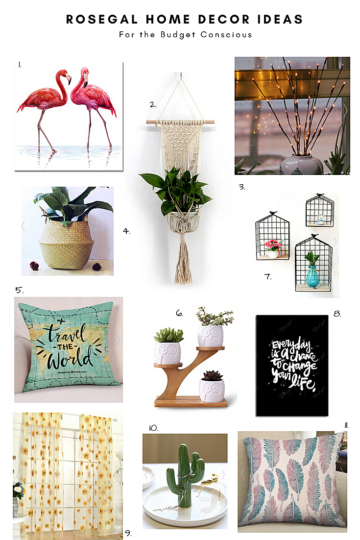 Rosegal Home Decor Ideas for the Budget Conscious
