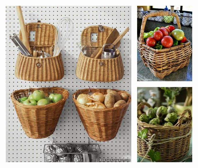 Mi rinc n de sue os ideas para organizar con cestas de mimbre for Donde poner la heladera en la cocina