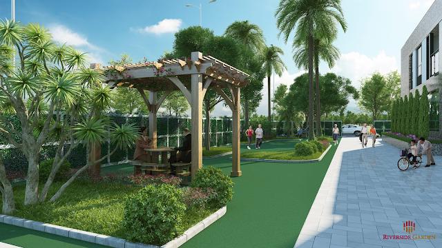 Không gian xanh dự án Riverside Garden