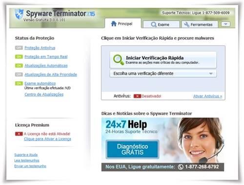 O Spyware Terminator oferece eficaz remoção e prevenção de spyware