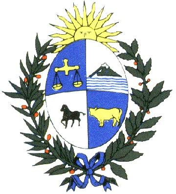 Dibujo del escudo de Uruguay a colores