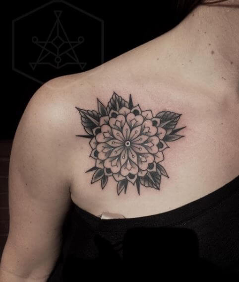 Image result for Sunflower mandala tattoo