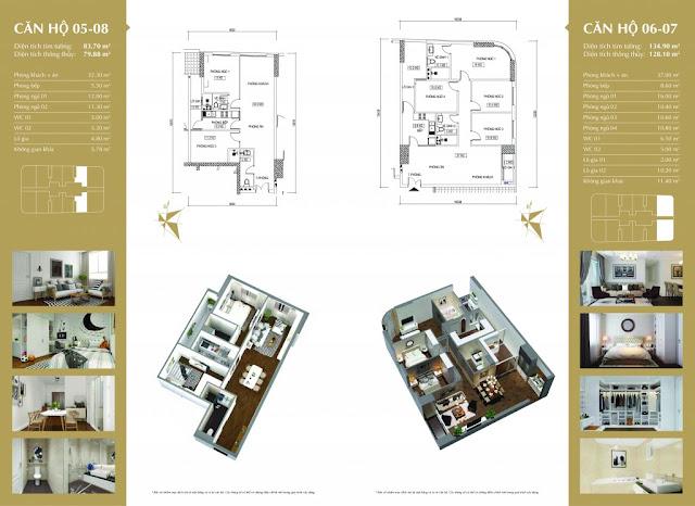 Mặt bằng thiết kế căn hộ Imperial Plaza