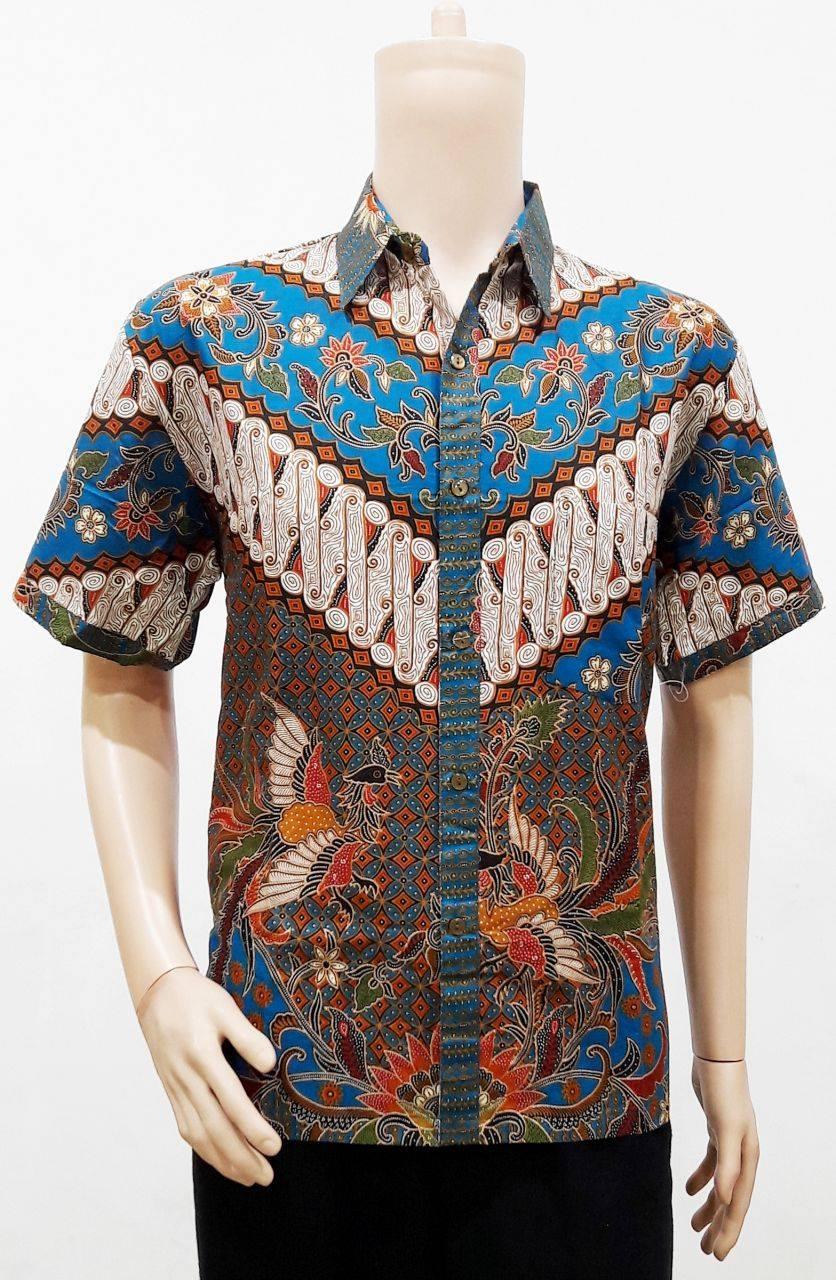 Model Baju Batik Pria Lengan Pendek Motif Parang Batik