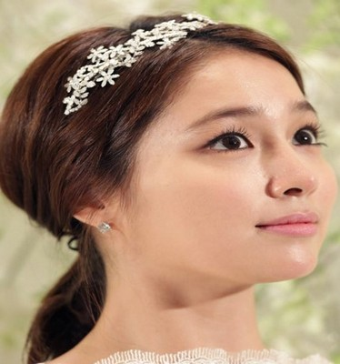 model rambut wanita korea Headband Ponytail