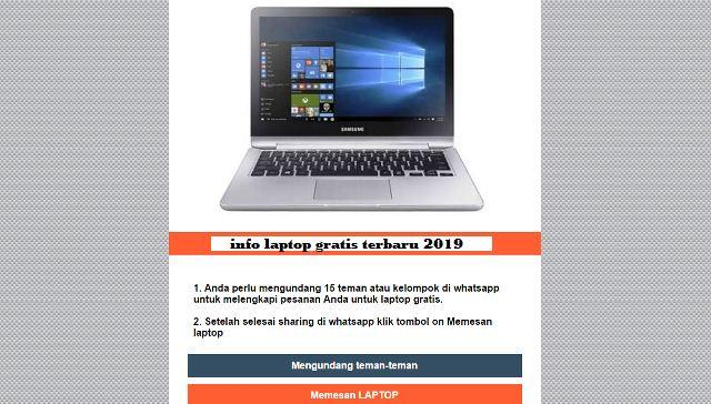 Laptop Gratis dari Pemerintah
