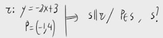 30. Recta paralela a una dada pasando por un punto 3