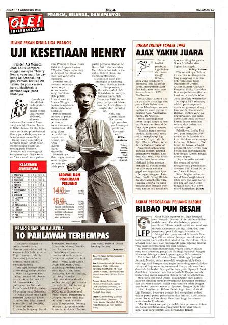 JELANG PEKAN KEDUA LIGA PRANCIS THIERRY HENRY