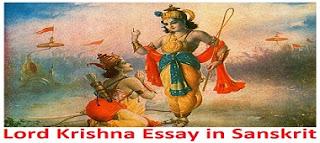 Lord Krishna Essay in Sanskrit