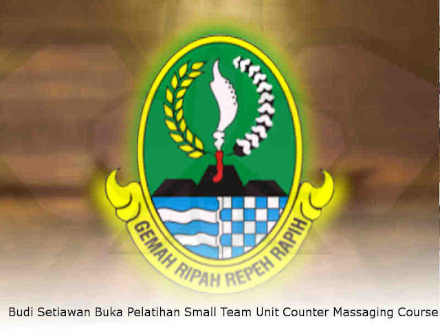 Budi Setiawan Buka Pelatihan Small Team Unit Counter Massaging Course