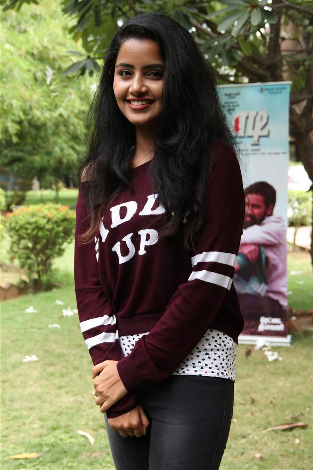 Anupama Parameshwaran In Maroon Dress