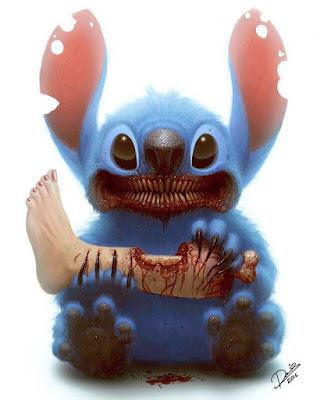 assustador desenho Stitch