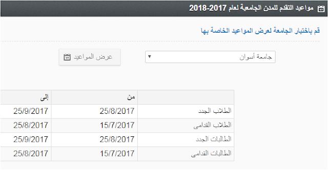مواعيد التقديم للمدن الجامعية بجامعة اسوان 2017/2018 (الزهراء للتقديم بالمدن الجامعيه)