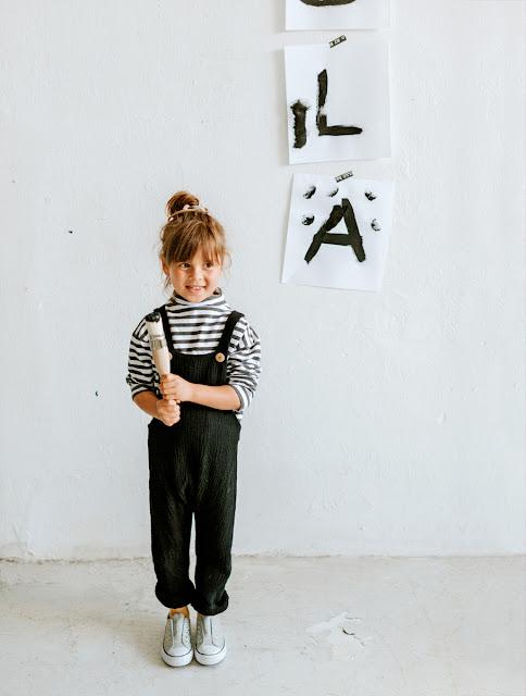 burda styl kasım 2017 kız çocuk bahçıvan pantolon tshirt kalıbı