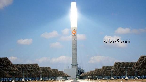Solarturmkraftwerk Solarturm Anlage Solarkraftwerk Marokko