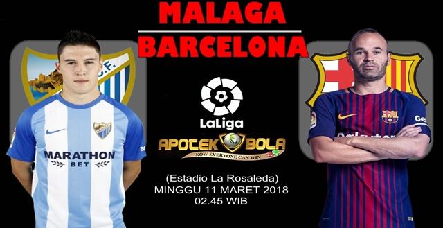Prediksi Malaga vs Barcelona 11 Maret 2018