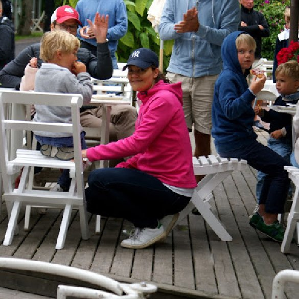 Princess Victoria of Sweden, husband Prince Daniel and their daughter Princess Estelle are seen during their year holidays in island of Öland