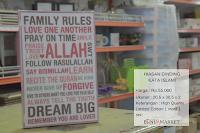Poster Hiasan Dinding Kata Islami