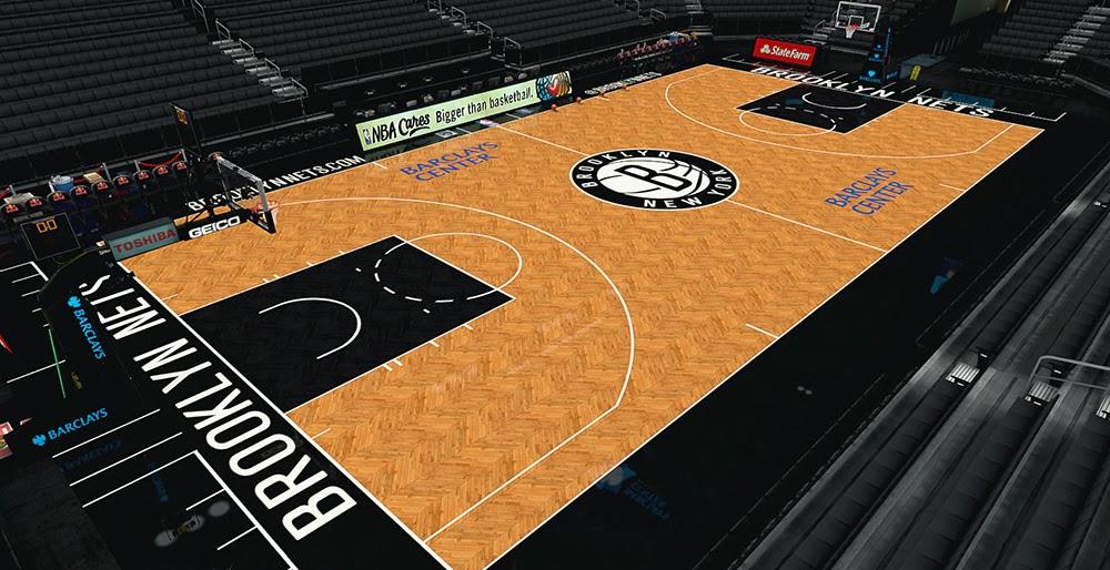 Nba 2k14 Brooklyn Nets Court Hd Texture Mod Nba2k Org