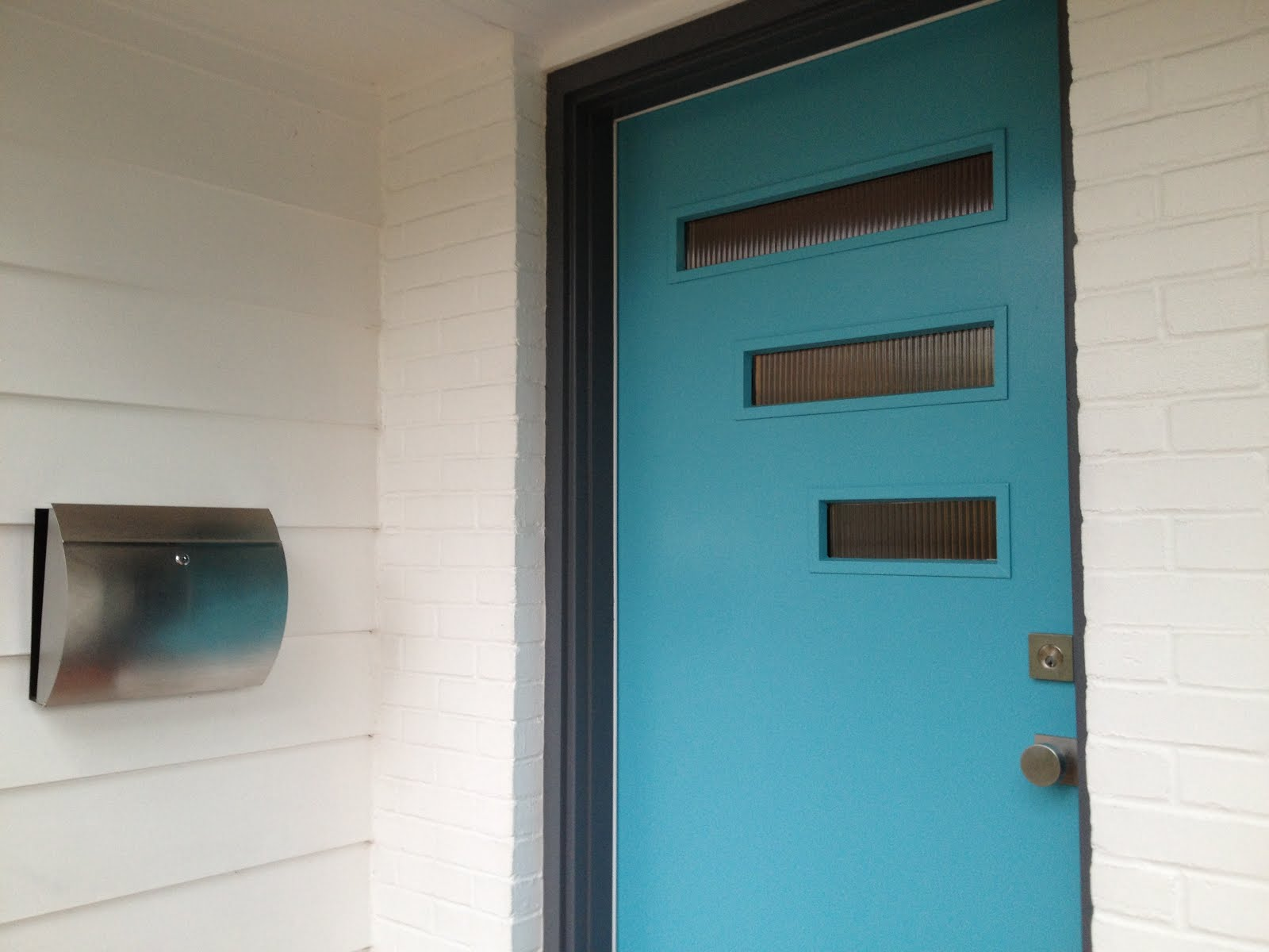 Mad for mid century our mid century modern mailbox - Mid century modern doors ...
