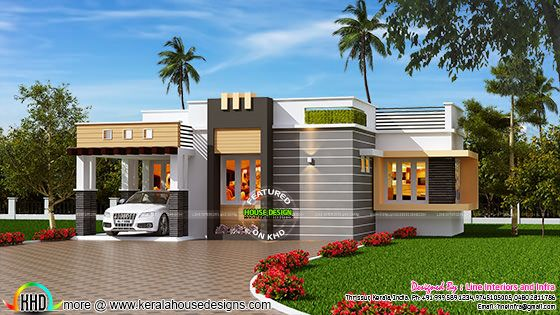 1100 sq-ft contemporary style small house
