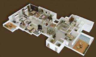 plan rumah 4 bilik tidur