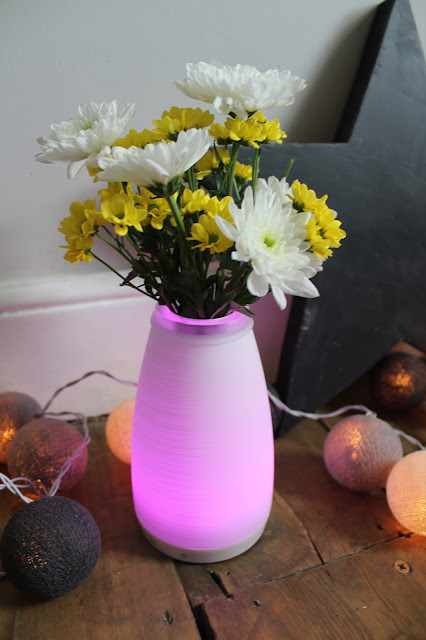 bright pink light up vase