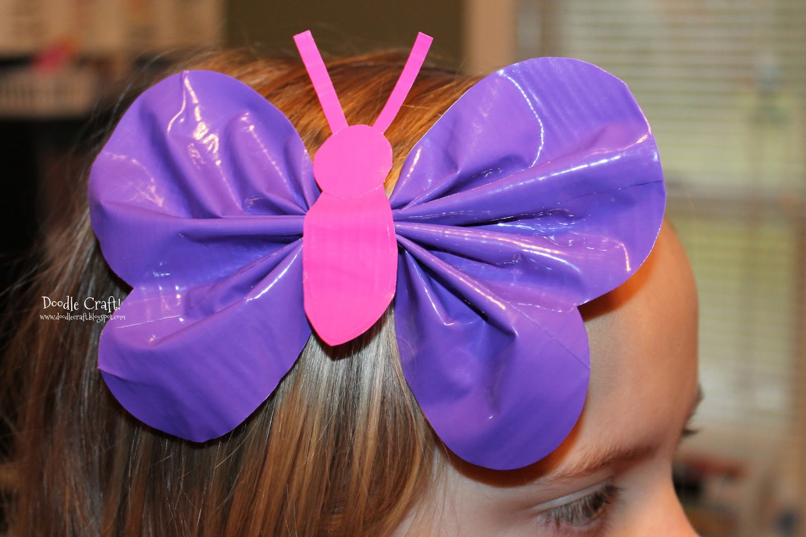 Butterfly Duct Tape Hairbow